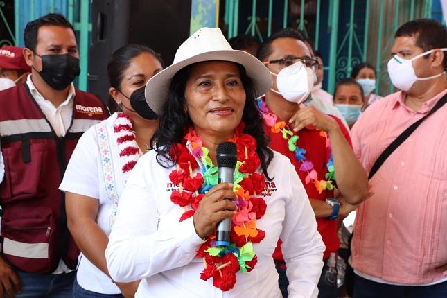 Reconoce Abelina a Taja por admitir derrota electoral