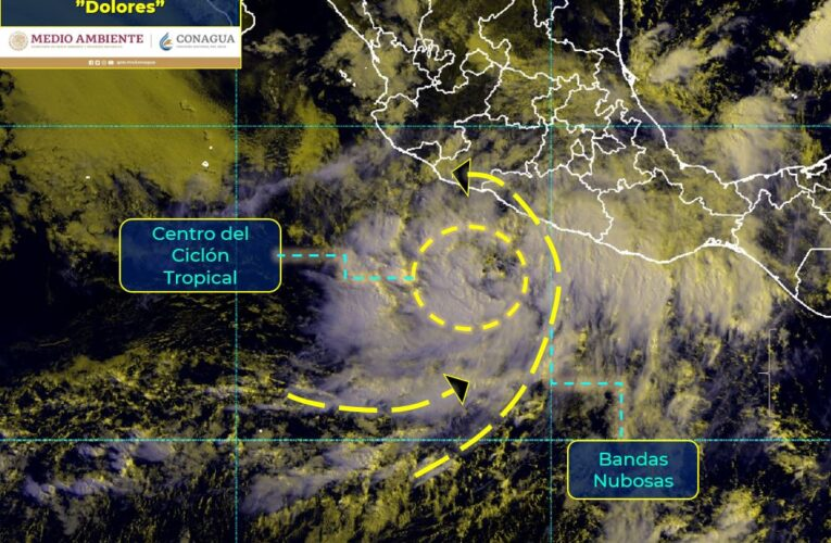 """Depresión ya es tormenta tropical """"Dolores"""""""
