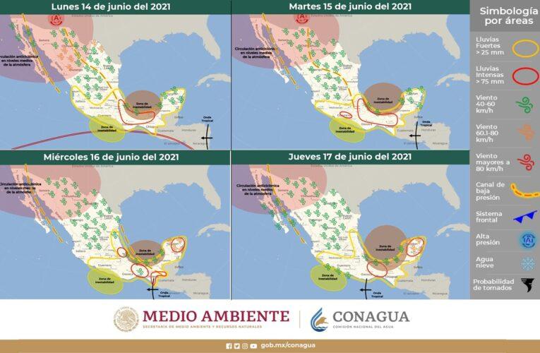 Continuarán lluvias en Guerrero, alerta Meteorológico