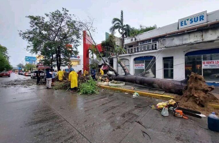 Causan lluvias daños ligeros en municipios de Guerrero