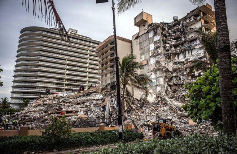 Suman 9 muertos en edificio caído en Miami