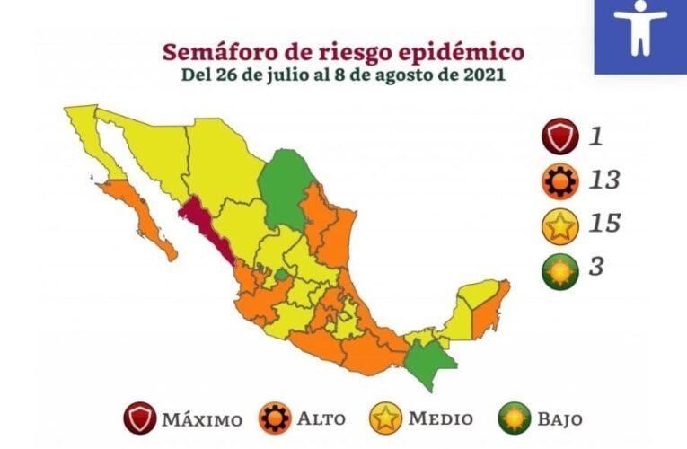 Retrocede Guerrero en Semáforo Epidemiológico a naranja