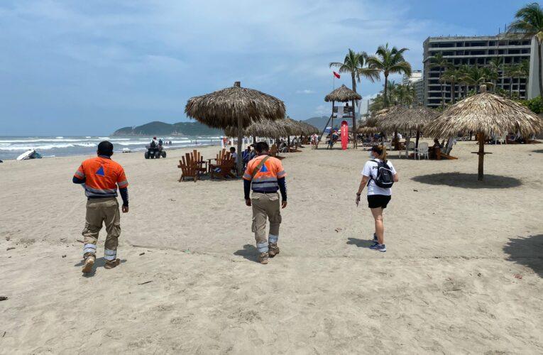 Reactivan módulos de sanitización en playas de Acapulco