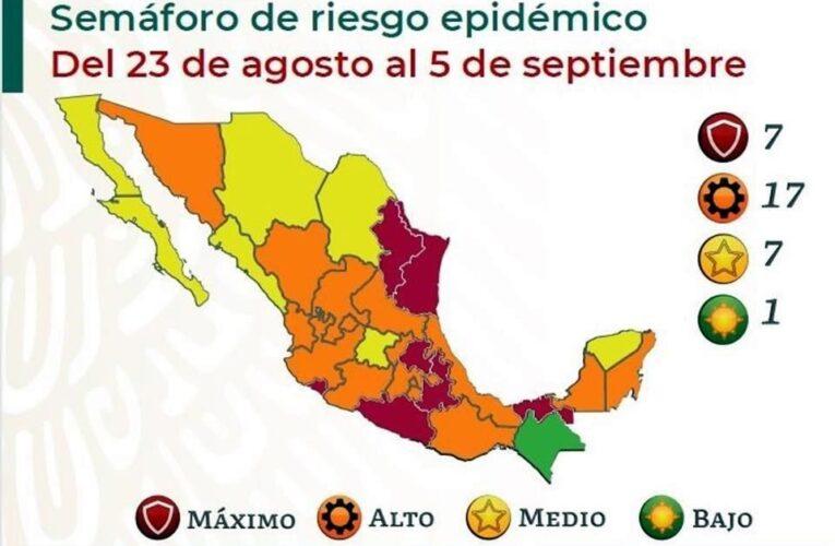 Seguirá Guerrero en color rojo del Semáforo Epidemiológico
