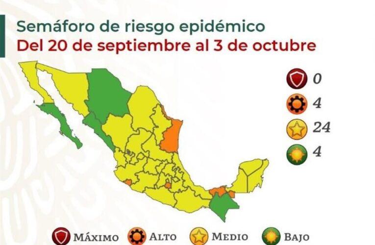 Pasará Guerrero a semáforo amarillo el próximo lunes